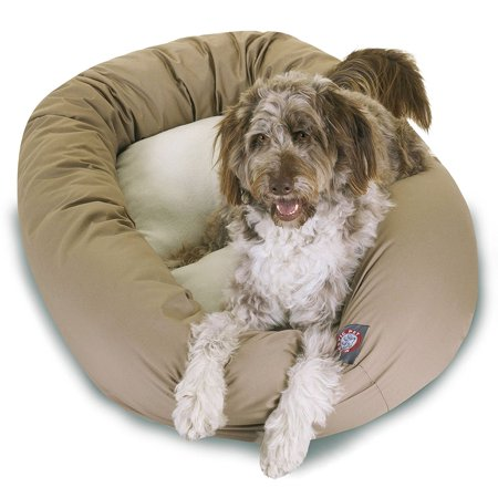 (Extra Large 52'' Majestic Pet Bagel Bed Sherpa Style in Multiple Colors)