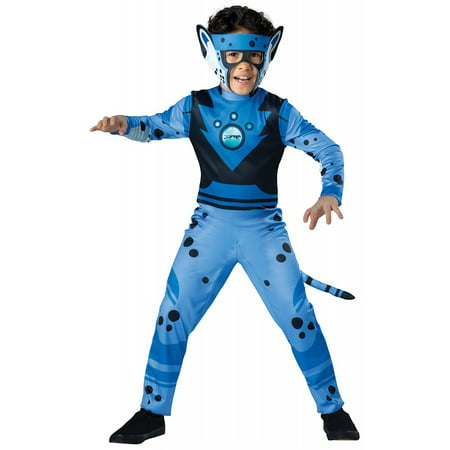 Cheetah Jumpsuit Costume (Value Wild Kratts Child Costume Blue Cheetah -)