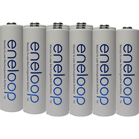 Newest version Panasonic Eneloop 4rd generation 12 Pack AA NiMH Pre-Charged Rechargeable Batteries -FREE BATTERY HOLDER- Rechargeable 2100