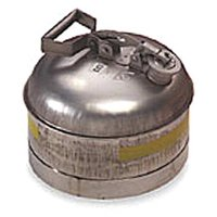 EAGLE 1313 2-1/2 gal. Silver Stainless Steel Type I Safety Can for Flammables