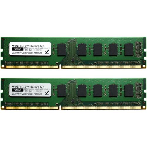 Wintec Value 8GB DDR3 1333MHz PC3-10660 DIMM Desktop Memory Kit (4GBx2)