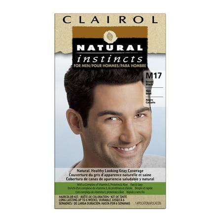 Clairol Natural Instincts Couleur des cheveux pour les hommes, M17 Marron, Noir, 1 Kit