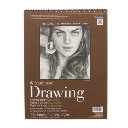 Strathmore Drawing Paper Pad, 400 Series, Medium Surface, 11