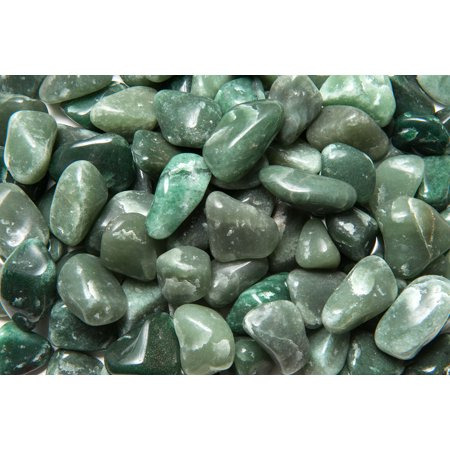 Fantasia Crystal Vault: 3 lb High Grade Green Aventurine Tumbled Stones - Large - 1.25