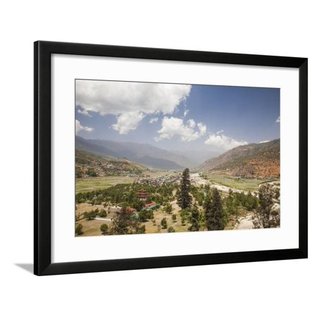 The Paro Valley Extends Westward Closer to the Peaks That Rise on the Tibetan Border Framed Print Wall Art By Roberto Moiola