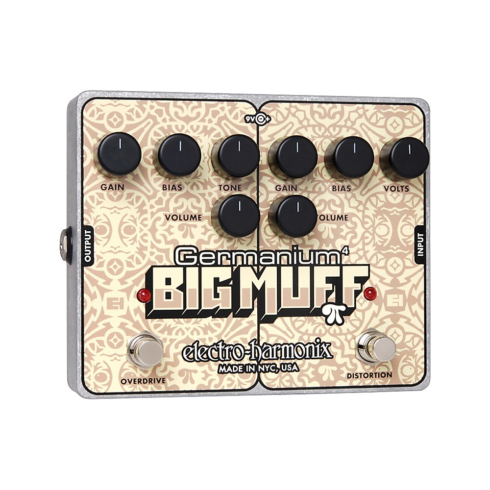 Electro-Harmonix Germanium 4 Big Muff Pi Overdrive and Distortion Guitar Effects Pedal by Electro-Harmonix