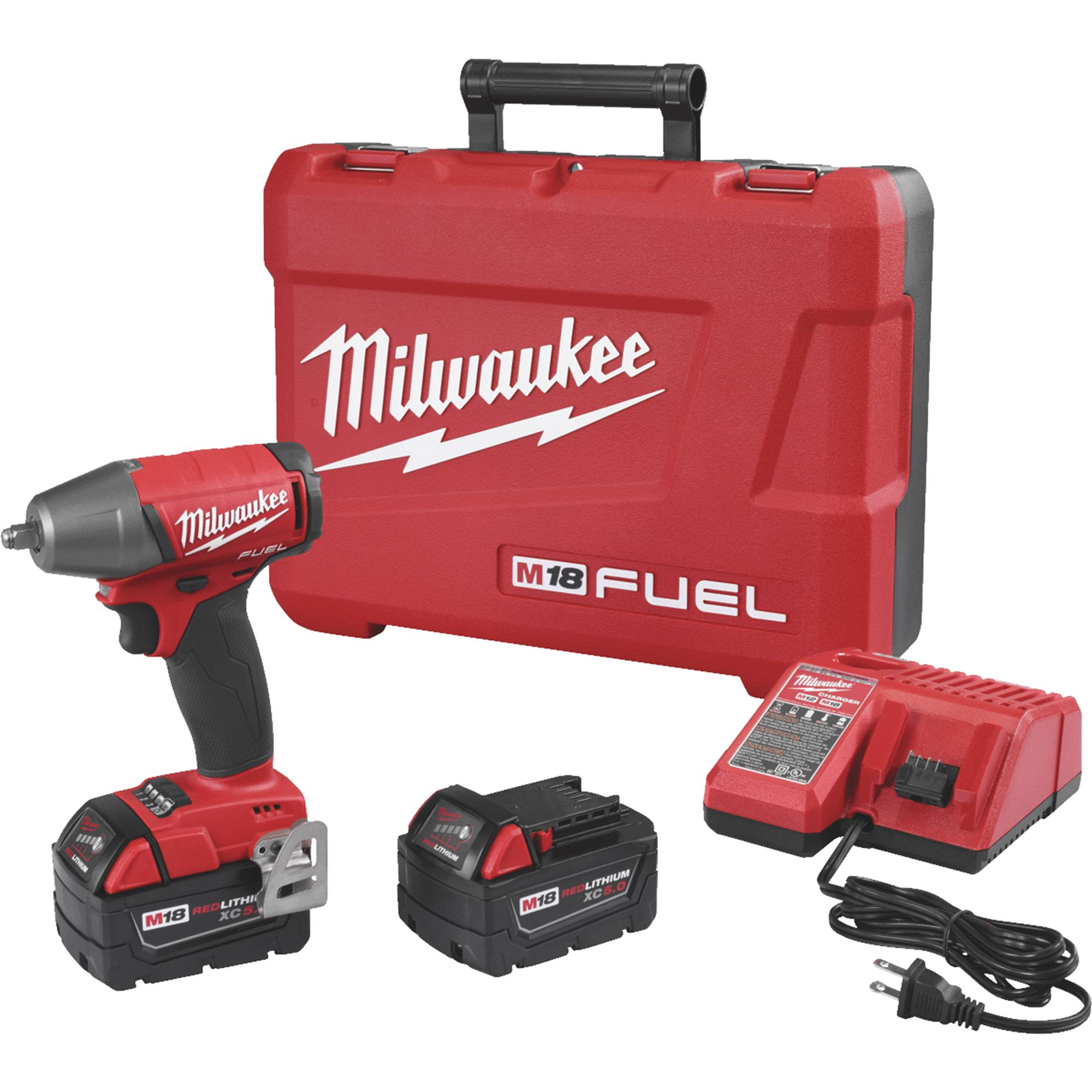 Milwaukee M18 FUEL Lithium-Ion Compact Brushless Impact Wrench Kit