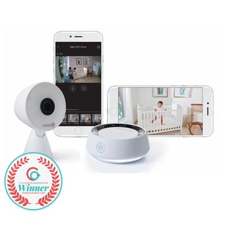 Safety 1st HD WiFi Baby Monitor with Sound and Movement Detecting Audio Unit,