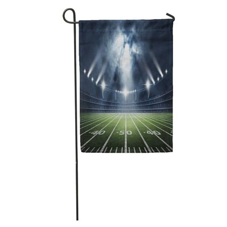 LADDKE Field American Soccer Stadium 3D Rendering Light Game Ball Arena Fan Garden Flag Decorative Flag House Banner 12x18
