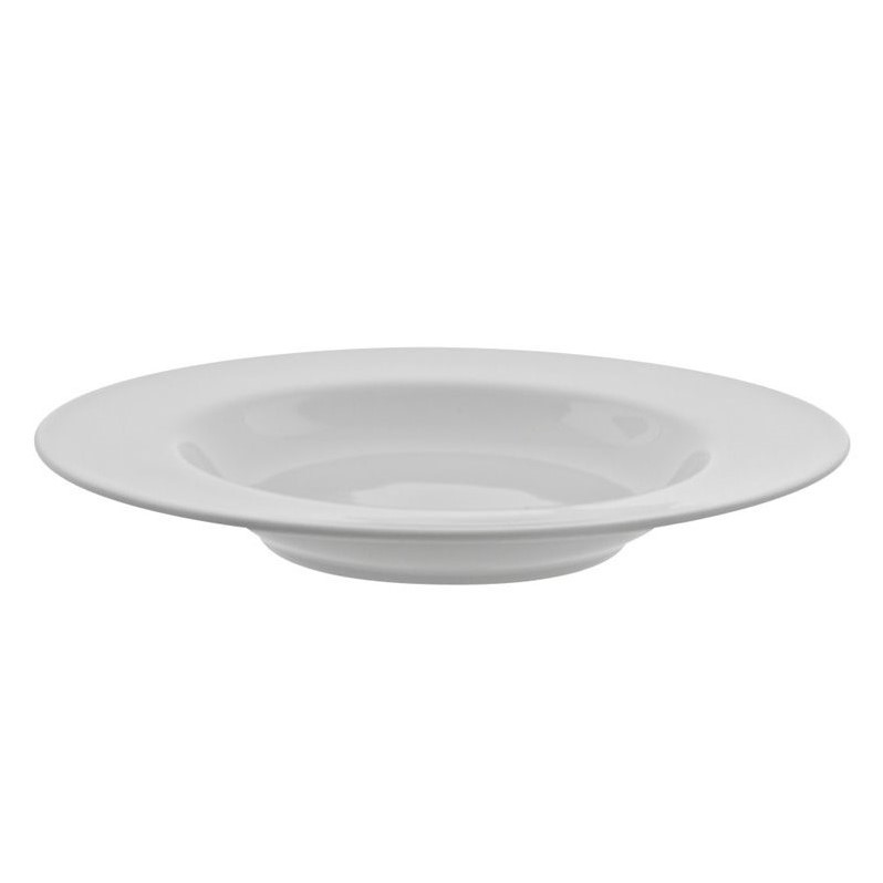 10 Strawberry Street Classic White Rim Soup Bowl in White (Set of 6) by 10 Strawberry Street