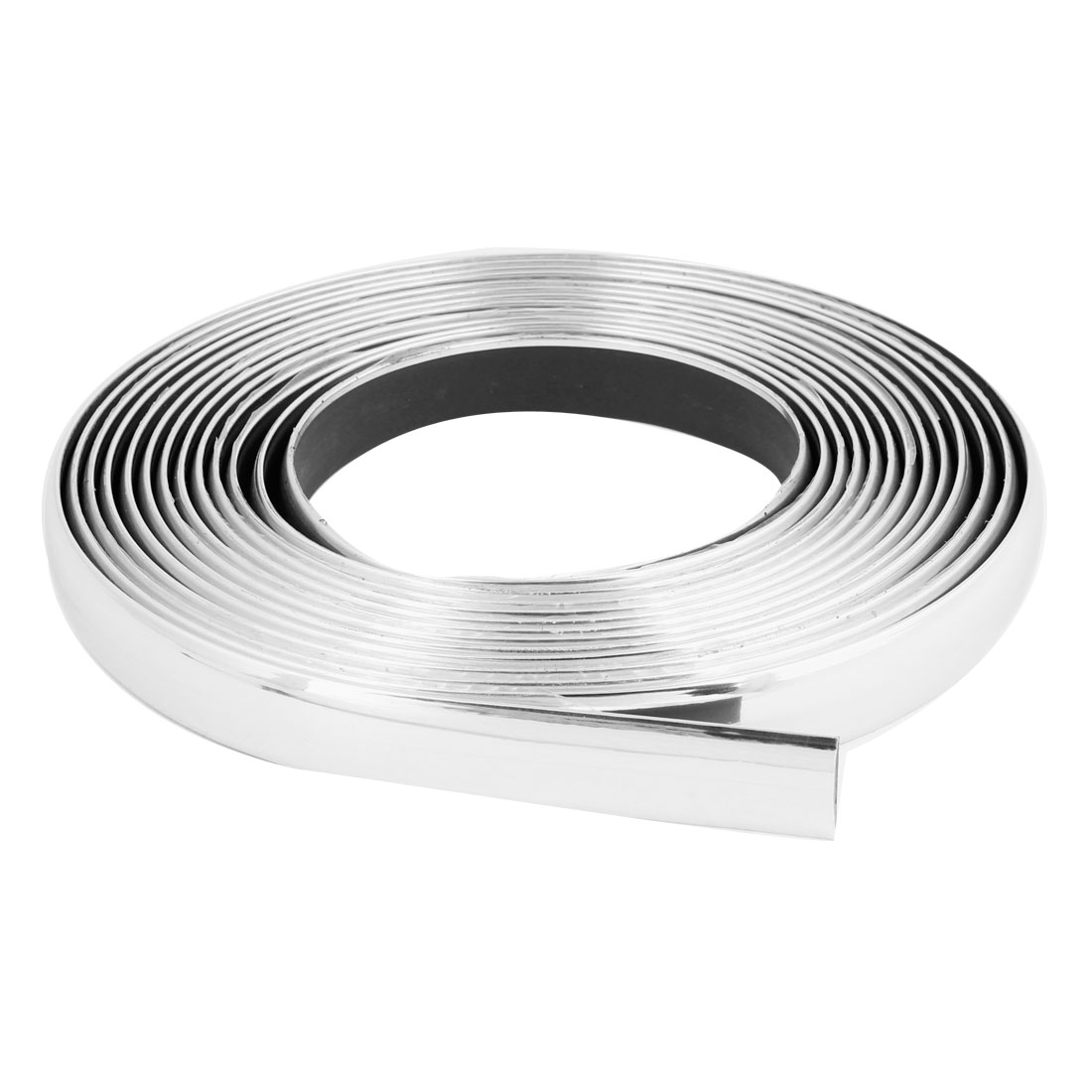 Unique Bargains Car Anti Rust Proof Flexible Silver Tone Moulding Protector Trim Strip 5m x 18mm