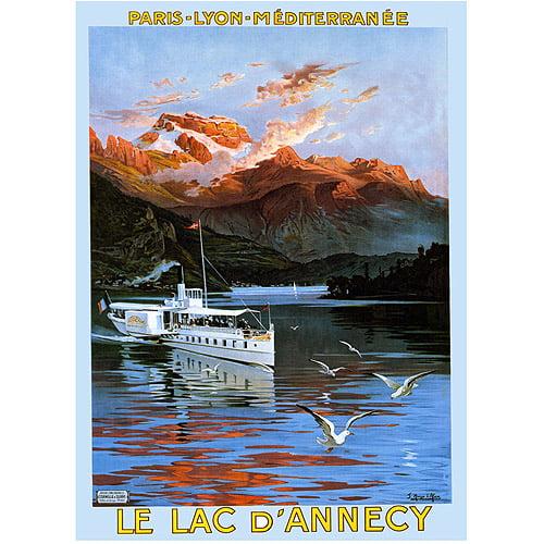 "Trademark Fine Art ""Le Lac D'Annecy"" Canvas Art by Hugo d'Alesi, 18x24"