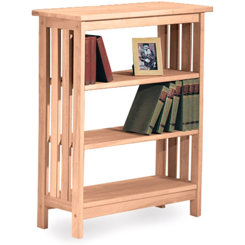 International Concepts 3-Tier Mission Shelf Unit, Unfinished