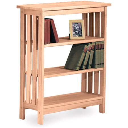 International Concepts Mission 36  3 Shelf Bookcase In Unfinished