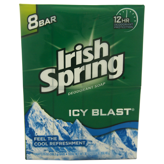 IcyBlast Cool Refreshment Deodorant Soap by Irish Spring for Unisex - 8 x 4 oz Soap - image 1 of 1