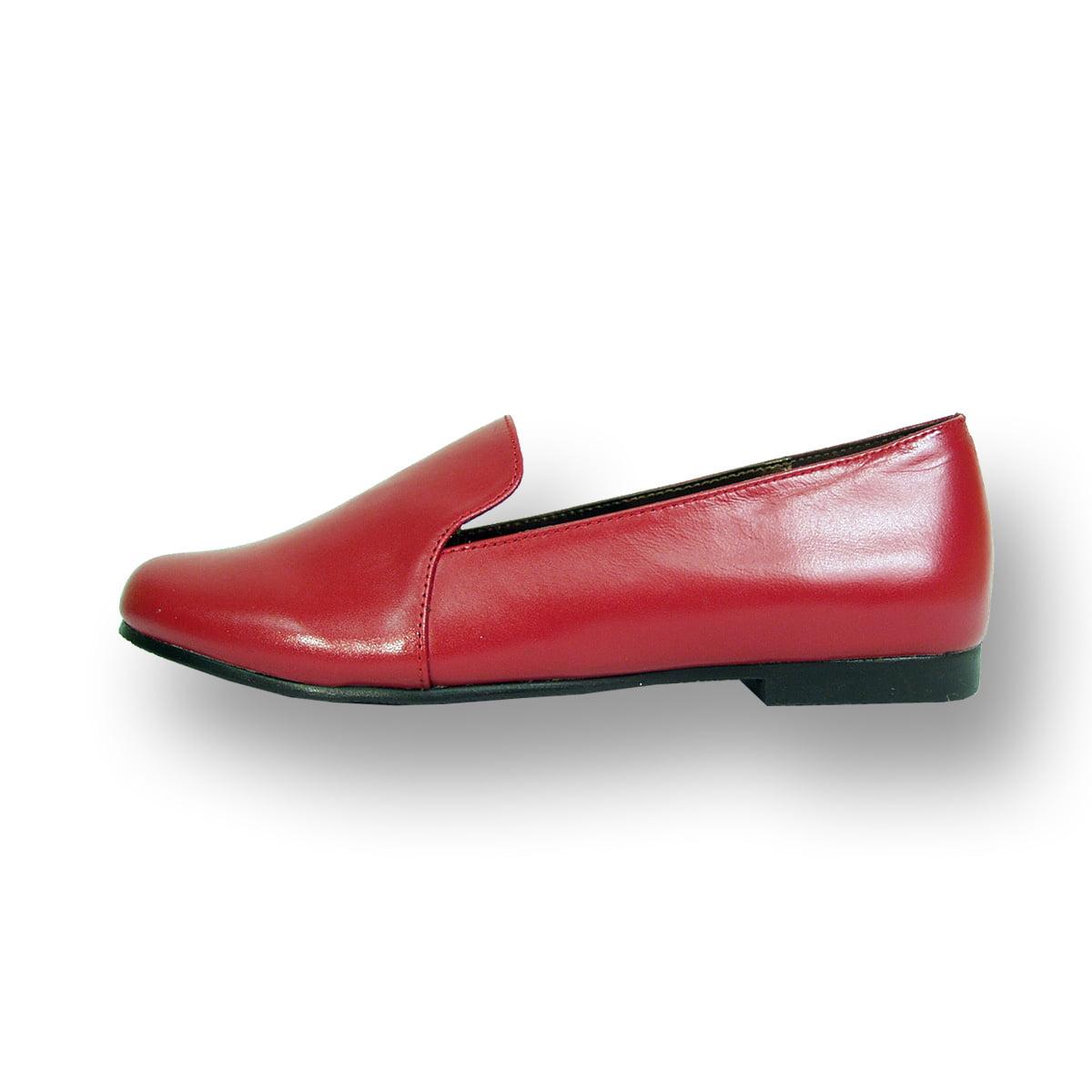 099554a5dca Peerage - PEERAGE Charlie Women Wide Width Leather Flat for Everyday Wear  RED 8.5 - Walmart.com