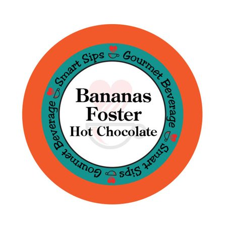 Smart Sips Coffee Bananas Foster Hot Chocolate Single Serve Cups, 24 Count, Compatible With All Keurig K-cup Machines