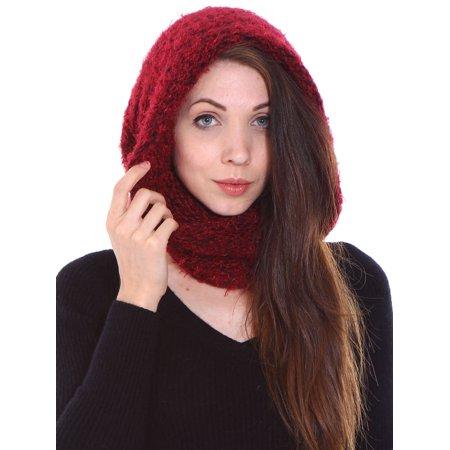 Simplicity Women's Winter Knit Fuzzy Neck Warmer / Infinity Scarf, Cap/Scarf 1 (Fuzzy Chenille Bohemian Scarf)