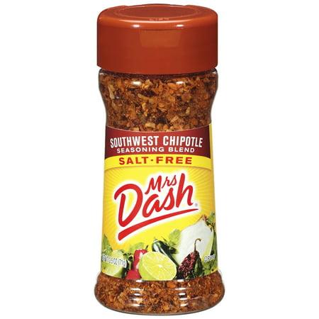 Mrs Dash Southwest Chipotle Salt Free Seasoning Blend 2 5 Oz Shaker