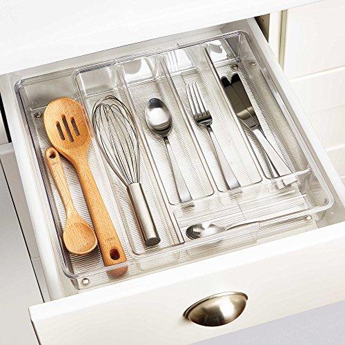 InterDesign Linus Acrylic Expandable Cutlery Tray