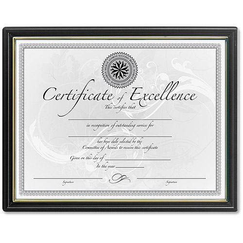 Burns Grp. Black and Gold Certificate Frames