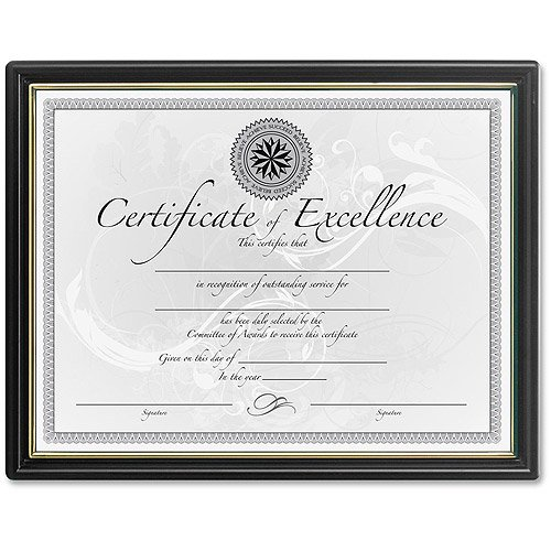 e2d56b9a7af DAX Burnes Black and Gold Certificate Frame