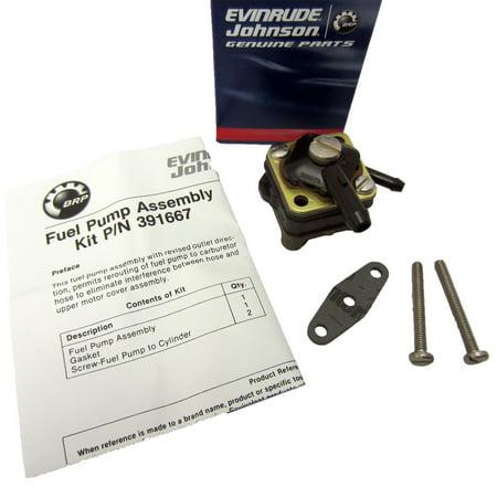 Johnson Evinrude OMC New OEM Fuel Pump Kit 9.9hp, 15HP 391667, 0391667