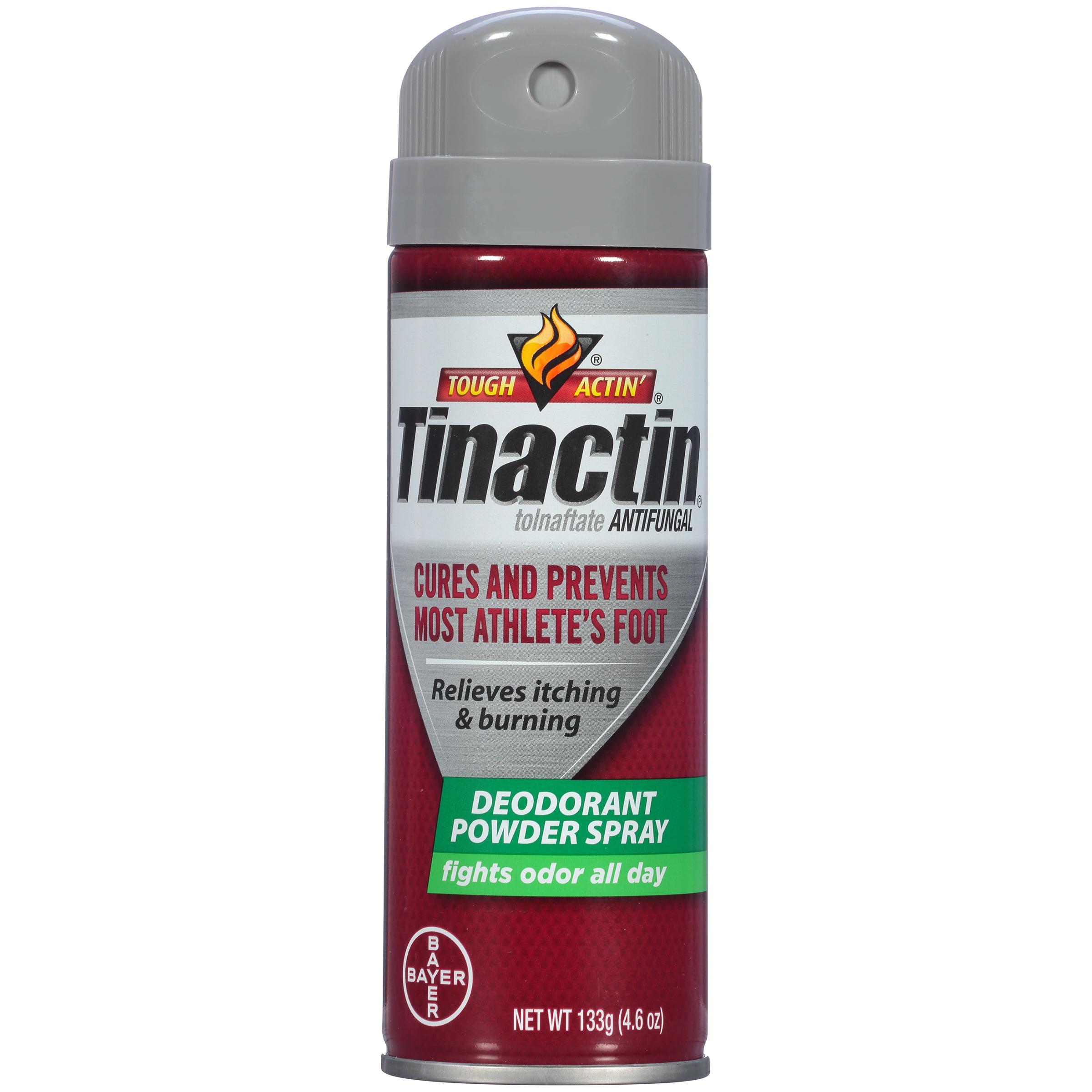 Tinactin Athlete's Foot Antifungal Deodorant Powder Spray, 4.6 oz Can