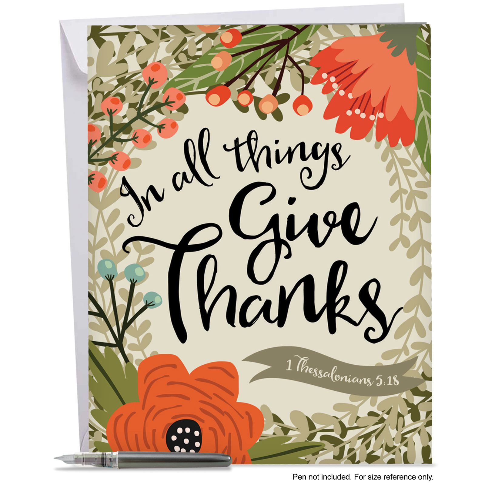 j6634atyg jumbo thank you card 'blessings' featuring