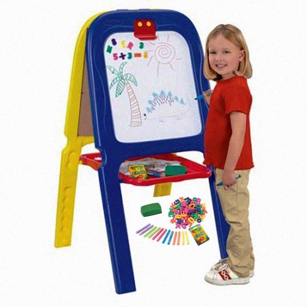 [5047-02], 3-in-1 Double Easel with Spacious Storage Tray...