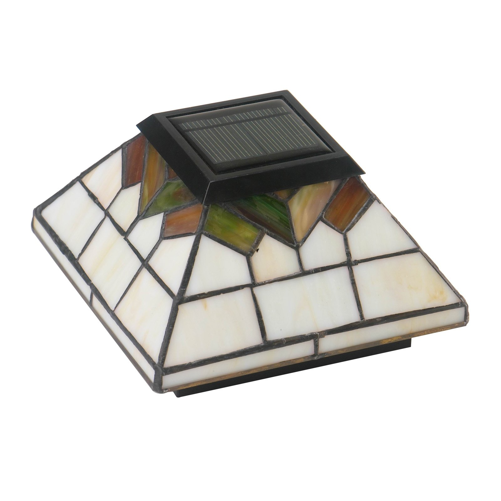Classy Caps Wellington Stained Glass Outdoor Solar Post Cap
