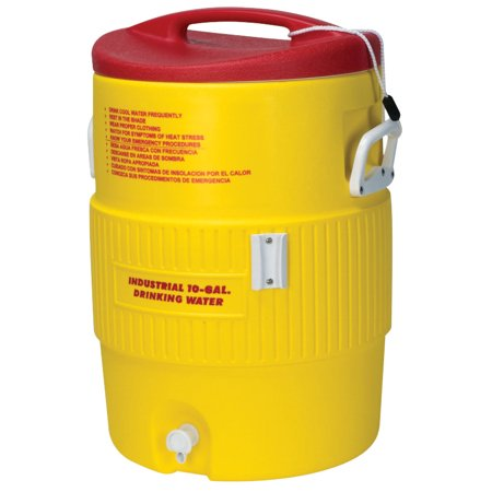 Heat Stress Solution Water Coolers, 10 Gallon, Red and Yellow
