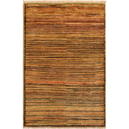 - Isabelline One-of-a-Kind Abramowitz Hand-Knotted Wool Tan/Brown Area Rug