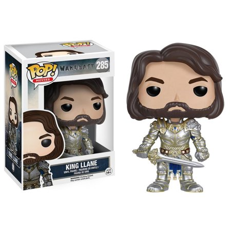 Pop Movies  Warcraft   King Llane Action Figure  From The Warcraft Movie  King Llane  As A Stylized Pop Vinyl From Funko  By Funko