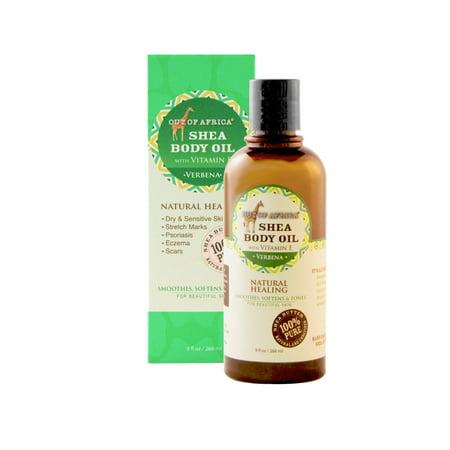 Out Of Africa Shea Butter Body Oil, Verbena, 9 fl Oz (Verbena Body Butter)
