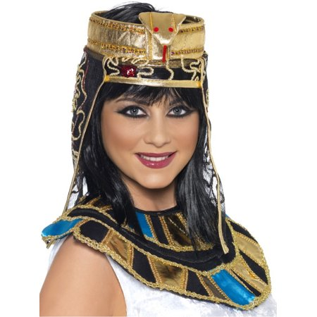 Womens Ancient Egyptian Pharoah Cleopatra Snake Headpiece Costume Accessory - Egyptian Headpiece Halloween