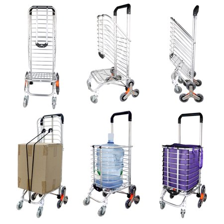 Folding Stair Climber Cart for Laundry Shopping Transport Up to 110 (Cold Food Transport Cart)