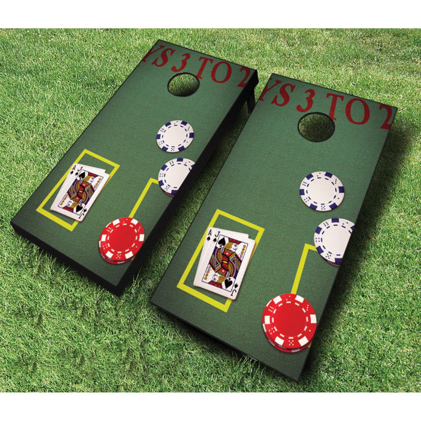 AJJ Cornhole Blackjack Cornhole Set with Bags by