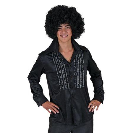 Funny Fashion Retro 60s 70s Disco Costume Black Ruffle Pirate - 60s Fashion Ideas