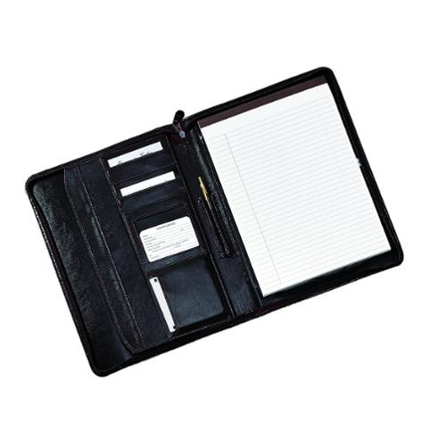Royce Leather Ziparound Writing Portfolio Organizer