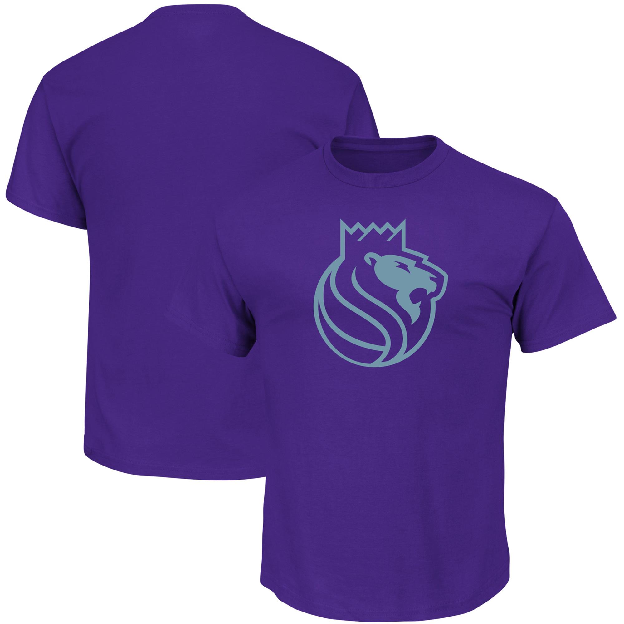 Sacramento Kings Majestic Reflective Tek Patch T-Shirt - Purple