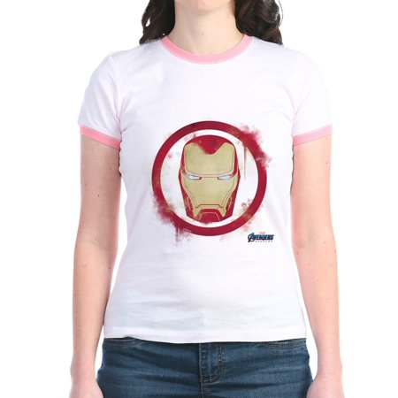 CafePress - Iron Man Head Jr. Ringer T Shirt - Jr. Ringer T-Shirt, Slim Fit 100% Cotton