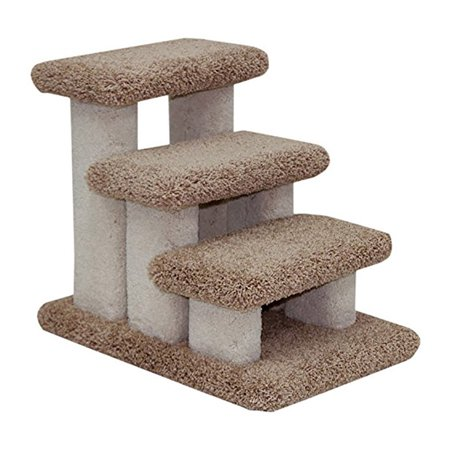 Beatrise Carpeted Indoor Dog Or Cat Pet Steps Staircase