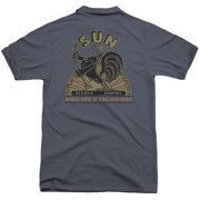 Sun Sun Rooster (Back Print) Mens Polo Shirt