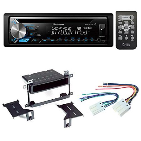 Pioneer Aftermarket Car Radio Stereo CD Player Dash Install Mounting Kit + Stereo Wire Harness for NIssan Sentra 2000-2006 (Pioneer Cd Stereo)