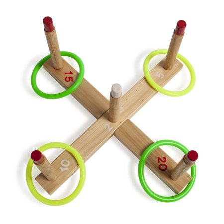 Champion Sport, CSIQS1, s Wooden Target Ring Toss Set, 1, - Diy Halloween Ring Toss