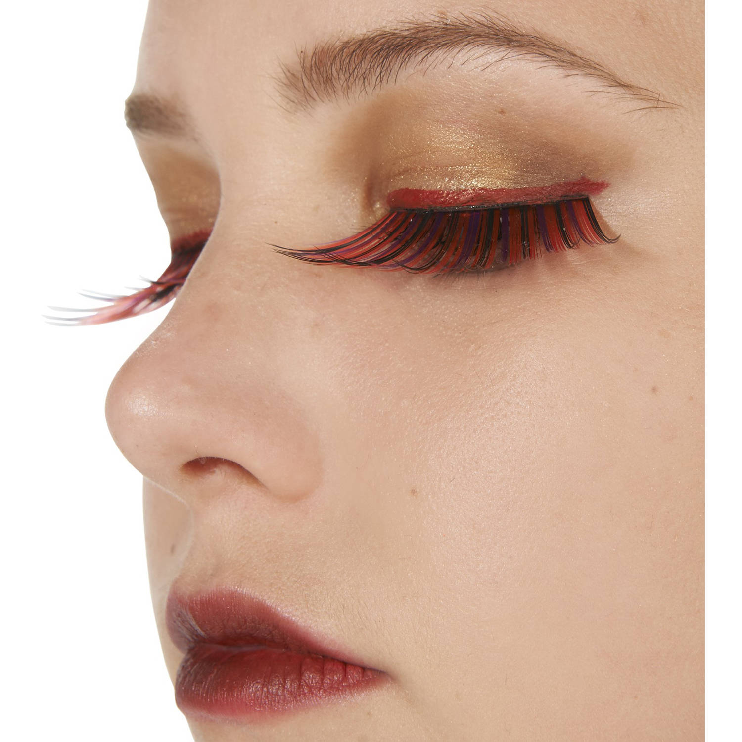 Pink and Black Flashy Eyelashes Halloween Accessory