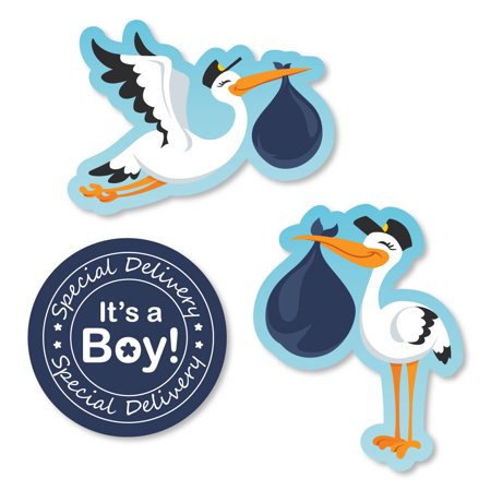 Boy Special Delivery Shaped Blue Its A Boy Stork Baby Shower Cut