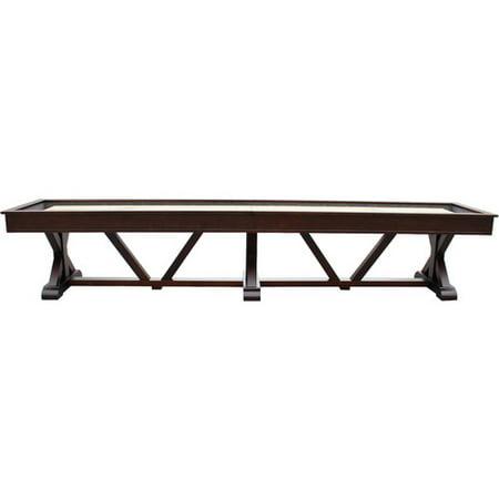 Playcraft Brazos River 14' Pro-Style Shuffleboard Table, Espresso 14' Tiffany Style Table