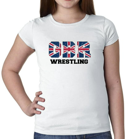 Great Britain Wrestling   Olympic Games   Rio   Flag Girls Cotton Youth T Shirt